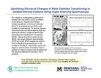 Identifying Structural Changes of Metal Carbides Transitioning to Carbide-Derived Carbons Using Auger Scanning Spectroscopy